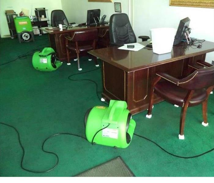 Office Damaged By Storms After