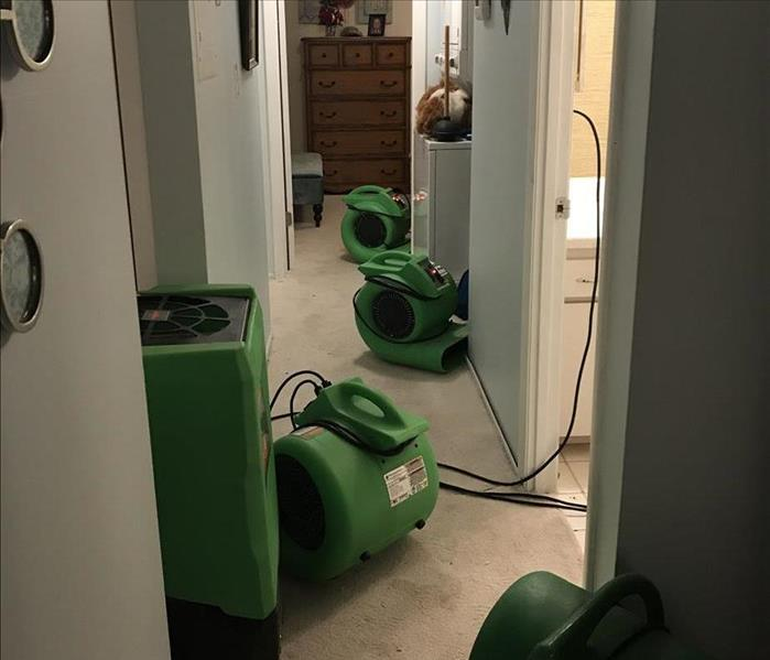 Drying Equipment In Use In Hallway